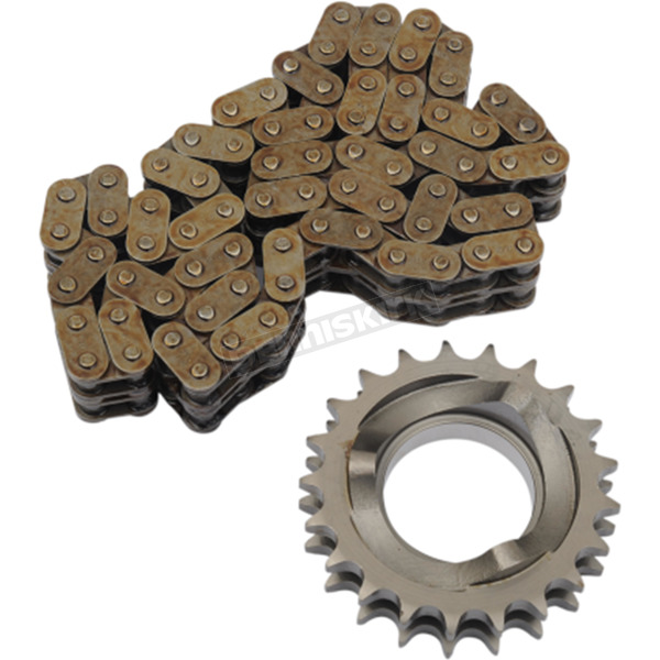 Drag Specialties 21-Tooth Compensating Sprocket/74 Link Chain Kit - DS-191056
