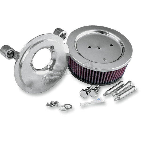 Arlen Ness Chrome Big Sucker Stage 1 Performance Air Cleaner Kit w/Synthetic Filter - 18-319