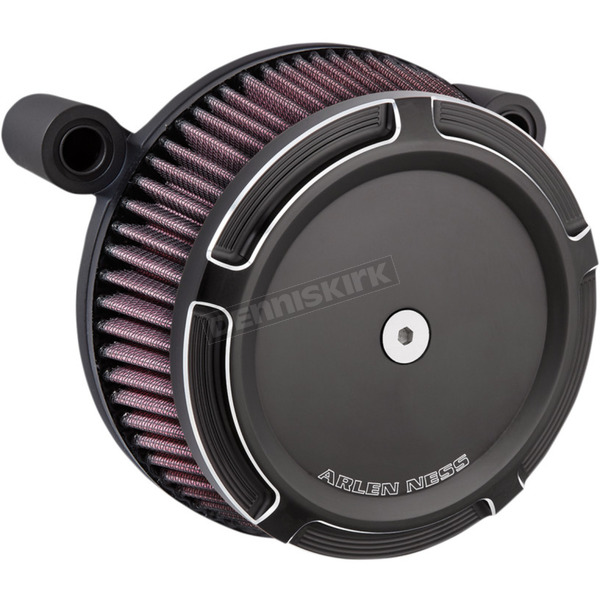 Arlen Ness Black Big Sucker Stage 1 Air Filter Kit w/Beveled Cover - 50-840