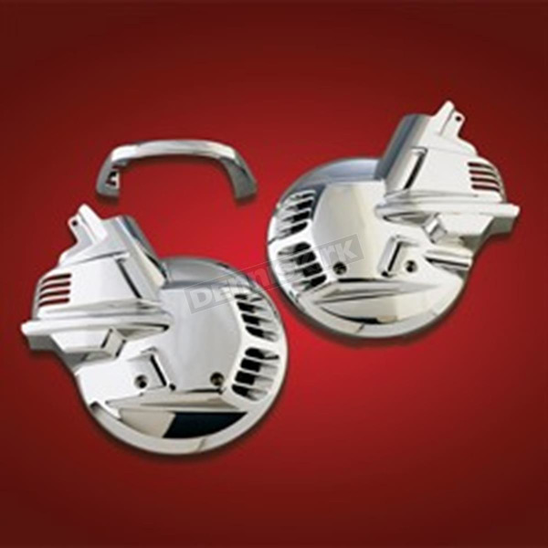 Show Chrome Chrome Front Tour Rotor Disc Covers - 2-497