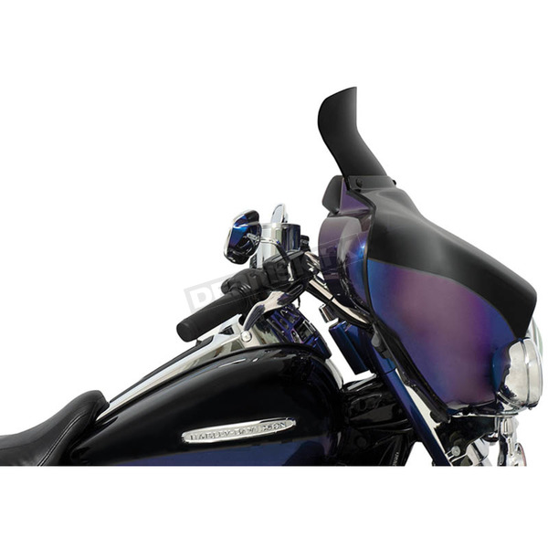Memphis Shades 6.5 in. Dark Smoke Spoiler Windshield for Batwing Fairing - MEP84110