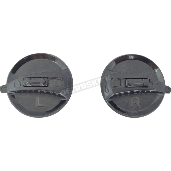 LS2 Black Tab Shield Pivot Knobs for OF569 Helmet - 02-029