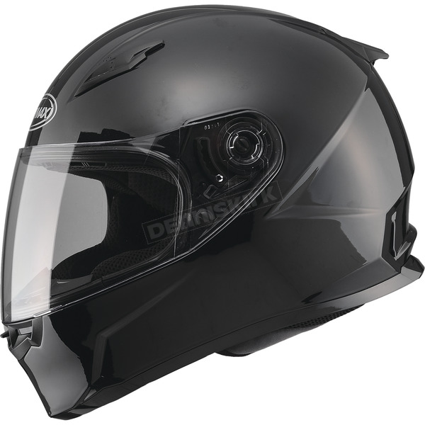 GMax Black FF49 Snowmobile Helmet - 72-6300S