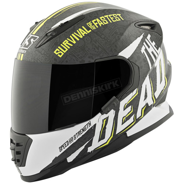 Speed and Strength Hi-Viz/White/Black Quick and the Dead SS1310 Helmet - 874830