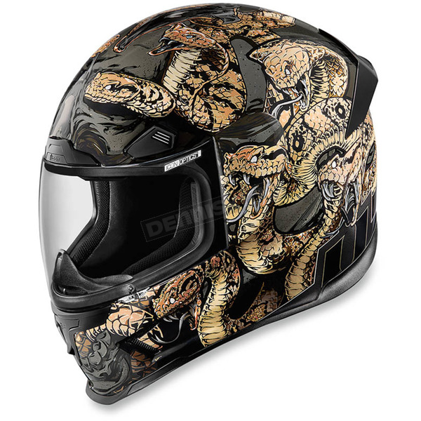 Icon Gold Airframe Pro Cottonmouth Helmet - 0101-9327