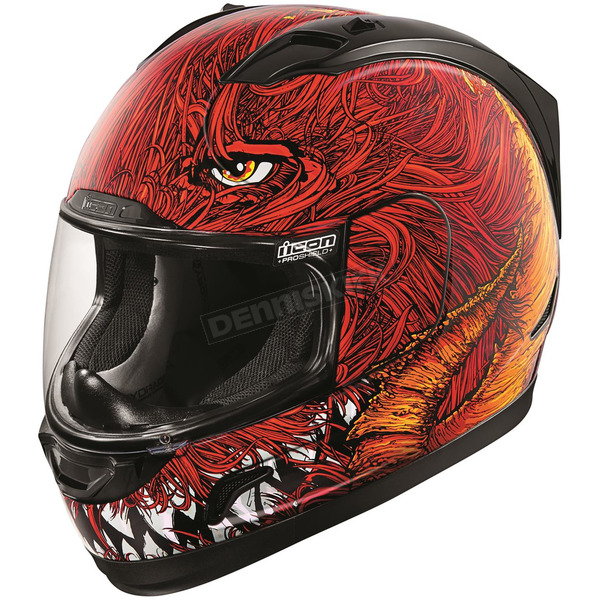 Icon Black/Red Alliance Lucifer Helmet - 0101-9908