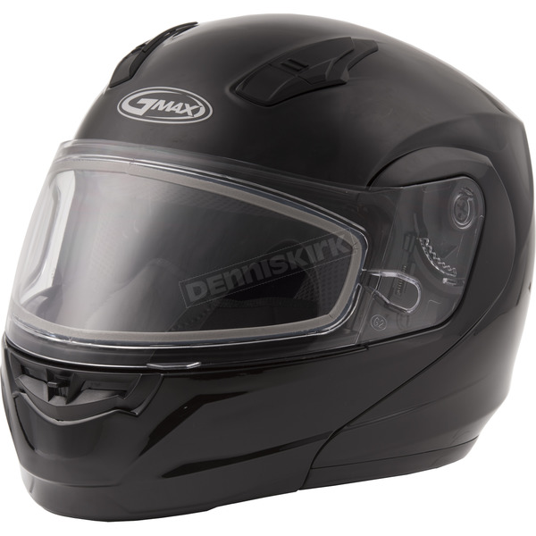 GMax Black MD04 Modular Snow Helmet w/Dual Lens Shield - G2040025