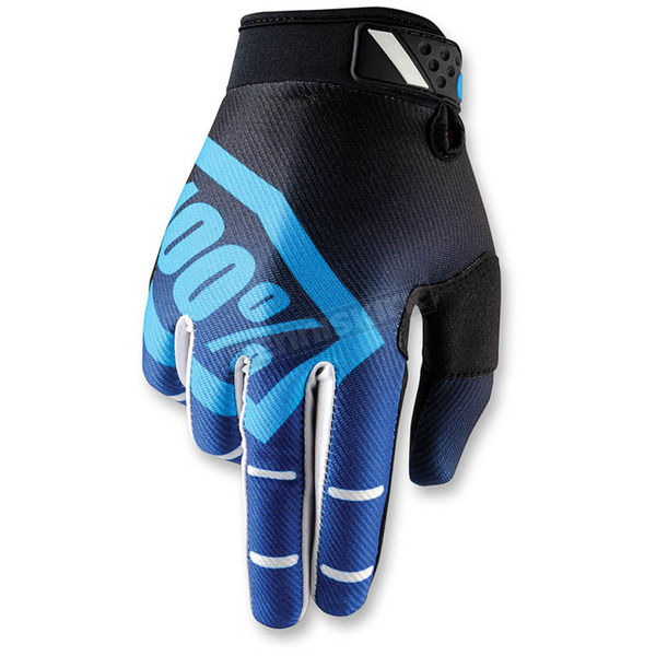100% Blue Ridefit Corpo Gloves - 10001-002-10