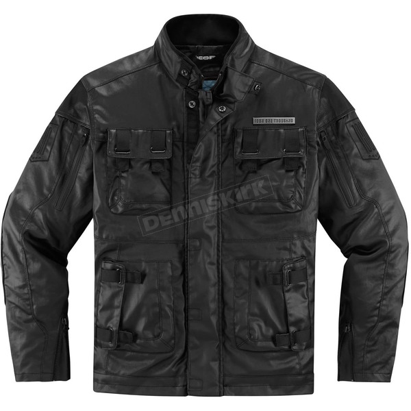 Icon 1000 Black Forestall Jacket - 2820-3520