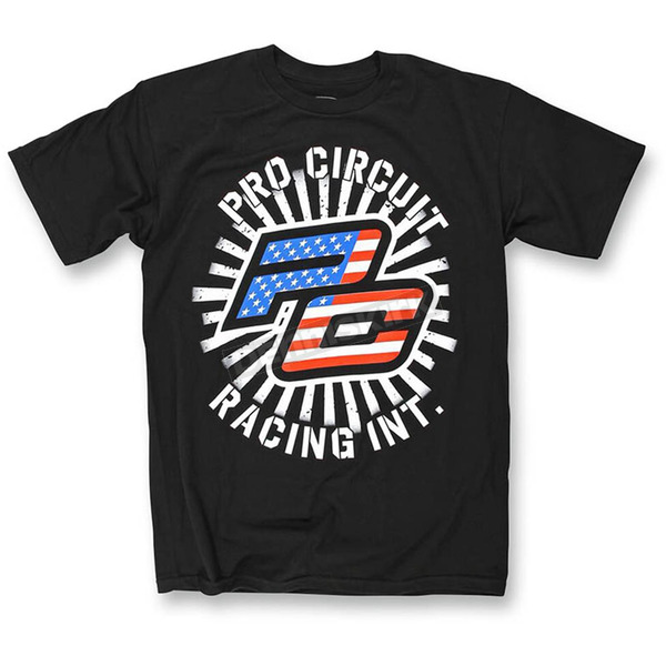 Pro Circuit Black Stars and Stripes T-Shirt - 6414103-010