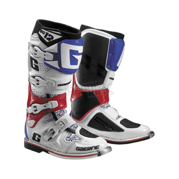 Gaerne White/Red/Blue SG-12 Boots - 2174-026-10