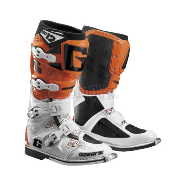Gaerne Orange/White SG-12 Boots - 2174-018-13