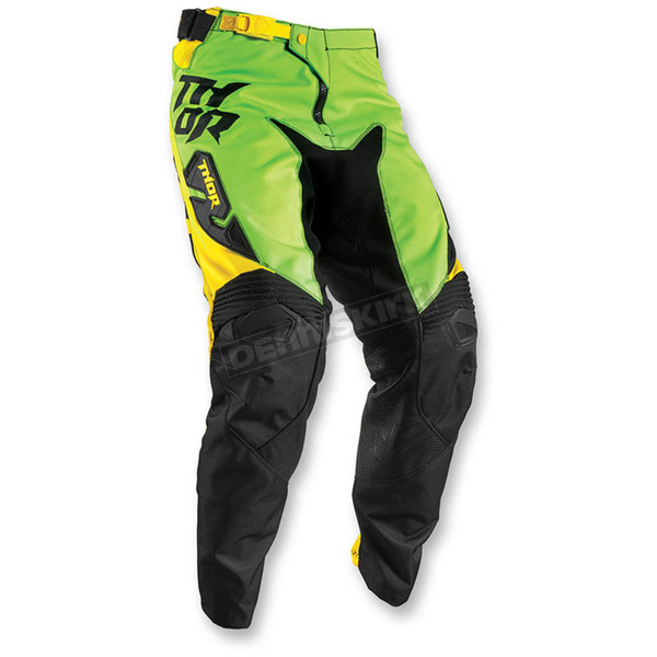 Thor Flo Green/Yellow Fuse Dazz Pants - 2901-5709