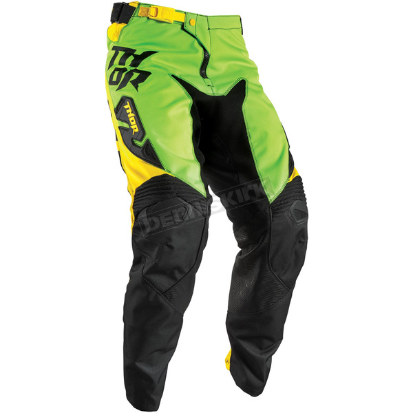 Thor Youth Green/Yellow Fuse Dazz Pant - 2903-1410