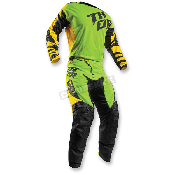 Thor Flo Green/Yellow Fuse Dazz Jersey - 2910-3838