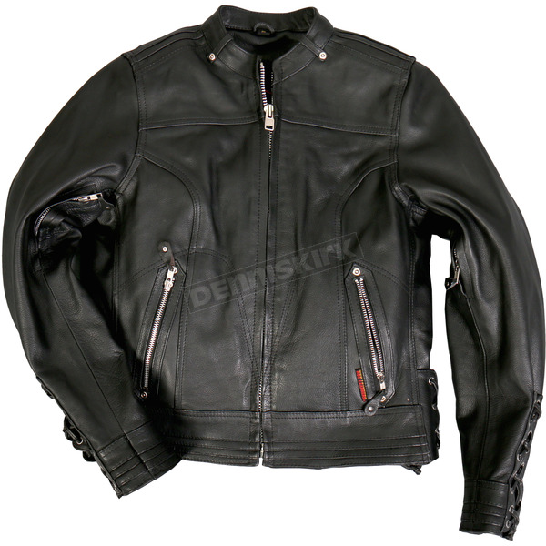 Hot Leathers Women's Lace Up Sleeves Leather Jacket - JKL1025L
