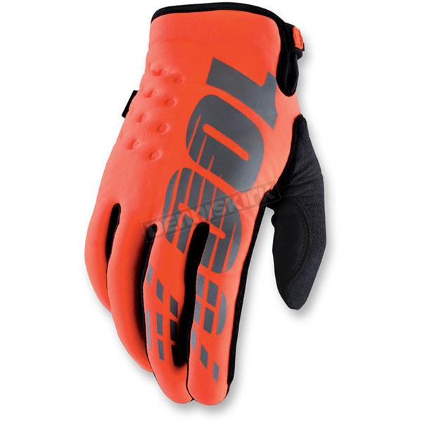 100% Orange Brisker Cal Trans Gloves - 10006-054-10