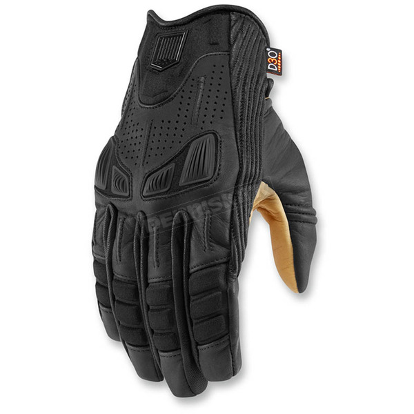 Icon 1000 1000 Black Axys Gloves - 3301-2880