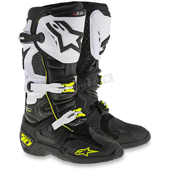 Alpinestars Black/White/Flo Yellow Tech 10 Boots - 2010014-12-14