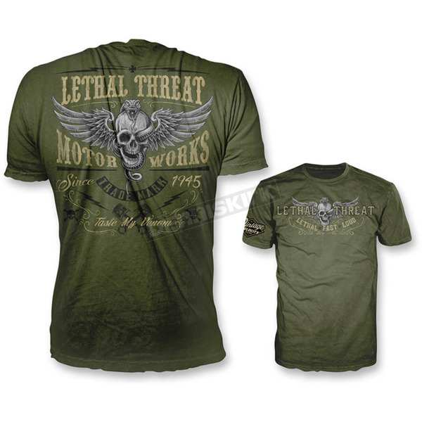 Lethal Threat Green Taste My Venom T-Shirt - VV40118L