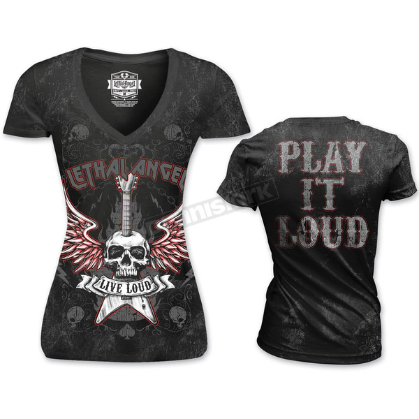 Lethal Threat Womens Live Loud T-Shirt - LT20381XL