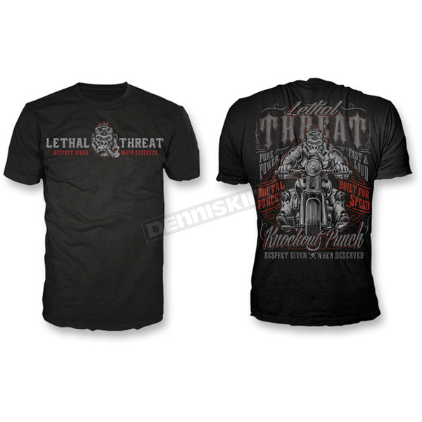 Lethal Threat Respect Given T-Shirt - LT20490M