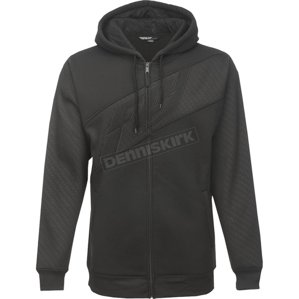 Fly Racing Black Carbon Hoody - 354-6260M