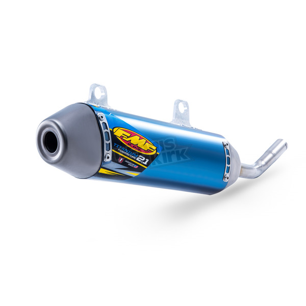 FMF Blue Anodized Titanium Powercore 2.1 Silencer - 025209