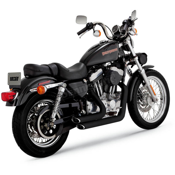 Vance & Hines Black Staggered Short Shots Exhaust System - 47223