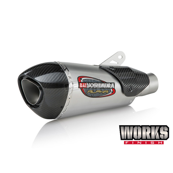 Yoshimura Stainless/Carbon Fiber Street Series Alpha T Slip-On Muffler For Triumph Speed Triple 675 2018 - 19680BP520