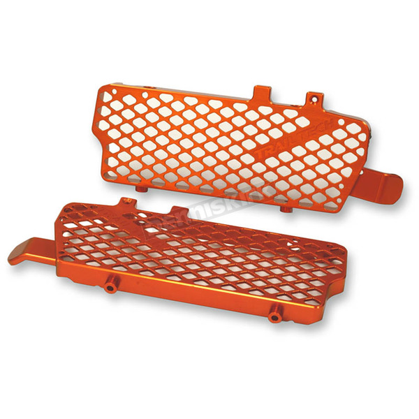 Trail Tech Orange Radiator Guard - 0151-RB03