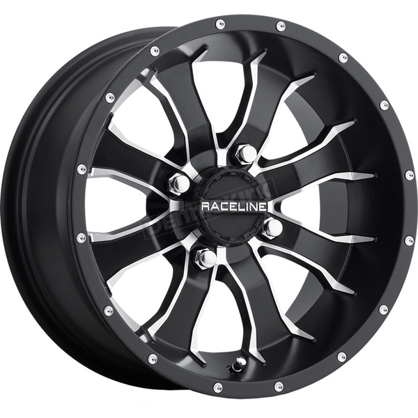 Sedona Front/Rear Machined Black Raceline Mamba 12 x 7 Wheel - 570-1503