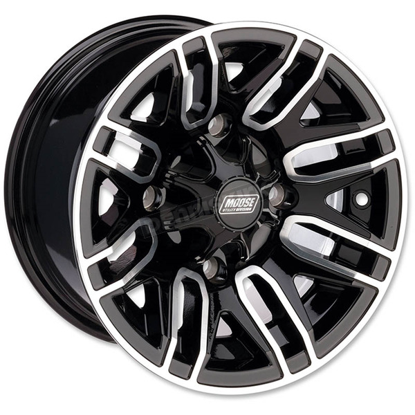 Moose Rear Gloss Black 14x8 Wheel - 0230-0885