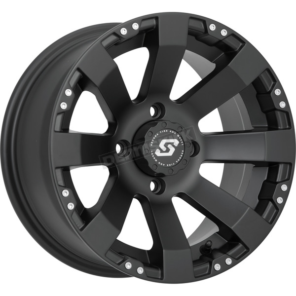 Sedona Front/Rear Spyder Black 12x7 Wheel - 570-1144