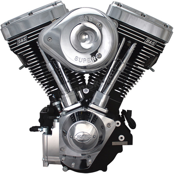 S&S Cycle Black/Chrome V124 Complete Assembled Engine - 31-9885