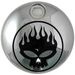 Chrome/Black Flame Skull Fuel Tank Console Door - 38-0603
