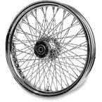 16 in. x 5.00 in. Chrome 80-Spoke Rear Wheel Assembly w/Twisted Spokes - 06-111