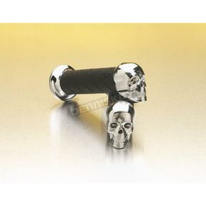 Pro Grip Skull Cruiser Grips - 5 1/2 in. x 7/8 in. - 862CR-SK-78