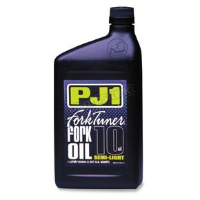 PJ1 Liter Gold Series Racing Blend 5W Fork Tuner Oil - 2-05W-1L