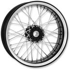 23 in. x 3.5 in. Front Platinum Cut Merc Wire Custom Wheel for Models w/o ABS - 12026306RMRCBMP