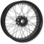 23 in. x 3.5 in. Front Black Ops Merc Wire Custom Wheel for Models w/o ABS - 12026306RMRCSMB