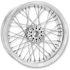 23 in. x 3.5 in. Front Chrome Merc Wire Custom Wheel for Models w/o ABS - 12026306RMRCCH