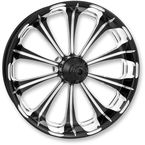 Rear Platinum Cut 17 x 6 Revel One-Piece Chrome-Forged Aluminum Wheel - 12697717PRELBMP