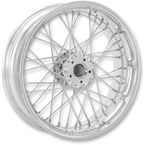 23 in. x 3.5 in. Front Spoked Chrome Custom Wire Wheel  - 12286306RSPKCH