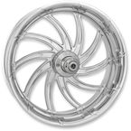 Chrome 21 in. x 3.5 in. Supra Front Wheel for Models w/o ABS (dual disc) - 12027106RSUPCH