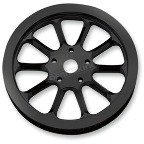 Performance Machine Hooligan Black Anodized Forged Aluminum Pulley - 00930065HOOLB