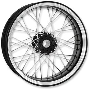Performance Machine 23 in. x 3.5 in. Front Platinum Cut Merc Wire Custom Wheel  - 12286306RMRCBMP
