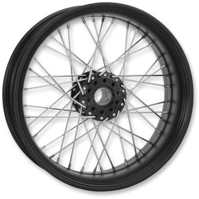 Performance Machine 23 in. x 3.5 in. Front Black Ops Merc Wire Custom Wheel for Models w/ ABS - 12046306RMRCSMB