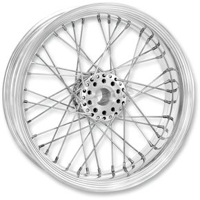 Performance Machine 23 in. x 3.5 in. Front Chrome Merc Wire Custom Wheel for Models w/o ABS  - 12026306RMRCCH
