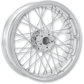 Performance Machine 23 in. x 3.5 in. Front Spoked Chrome Custom Wire Wheel for Models w/ ABS  - 12046306RSPKCH